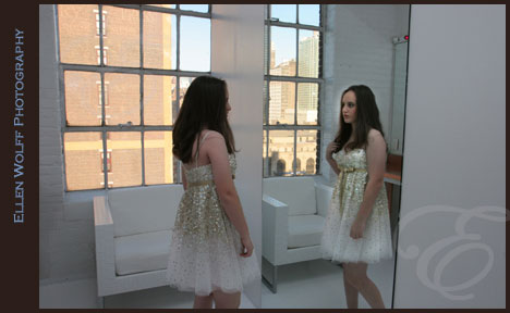 getting ready for her bat mitzvah at loft 450 nyc
