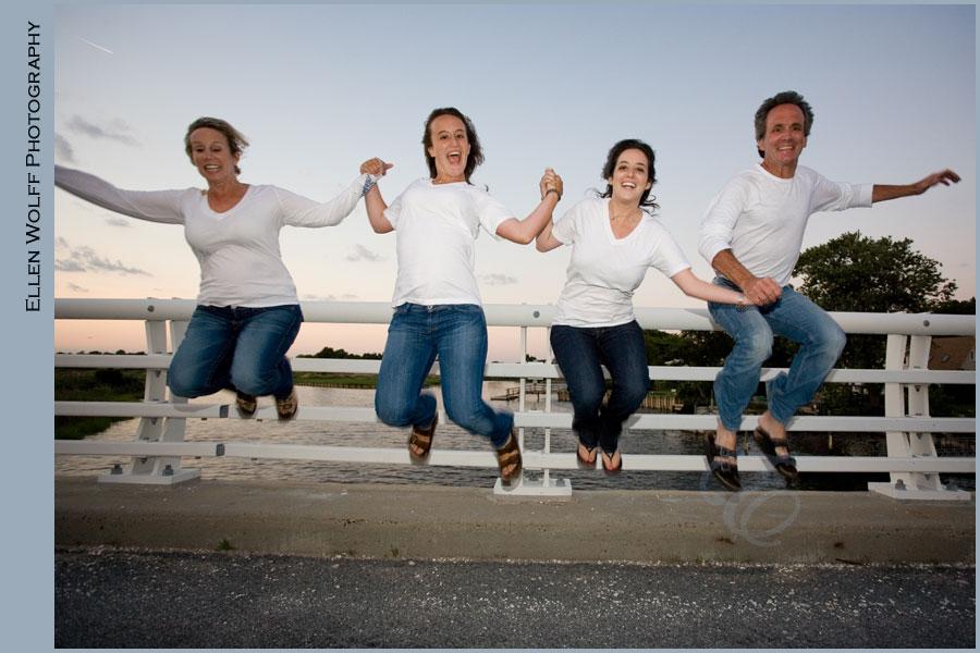 fun family photo in hewlett harbor