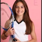 tennis themed bat mitzvah portrait