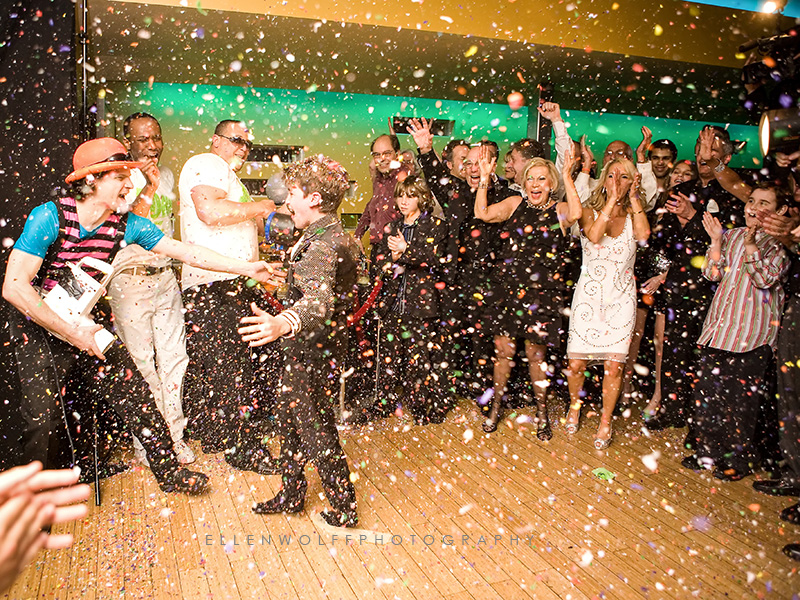 FUN BAR MITZVAH GRAND ENTRNCE WITH CONFETTI