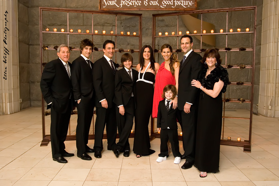 nyc bar mitzvah photography - family formals at guastavinos