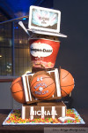 basketball bar mitzvah cake photo