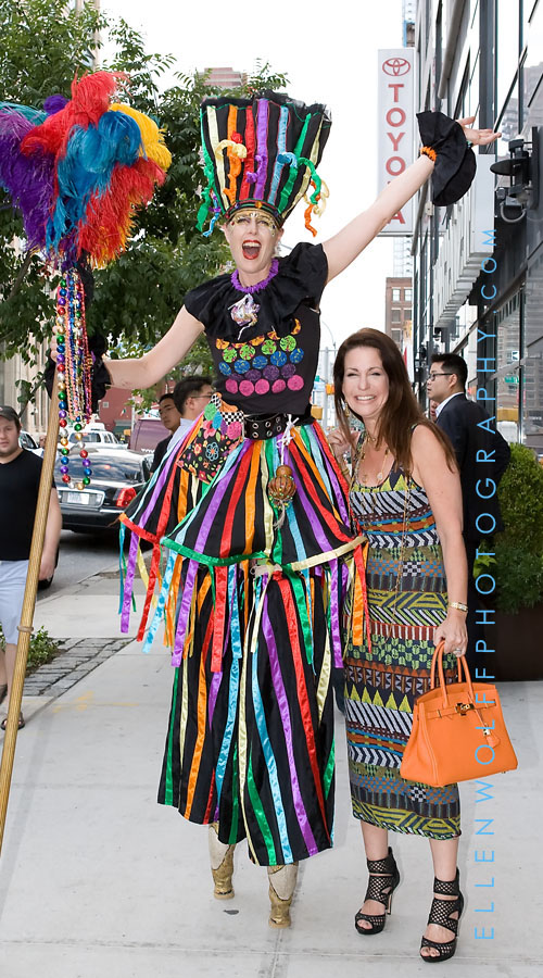Julie and the stiltwalker