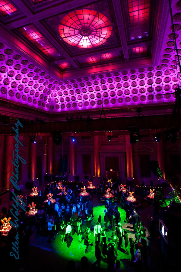dance floor during a bar mitzvah inside Capitale NYC